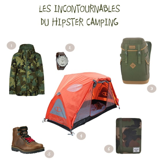 Hipster camping
